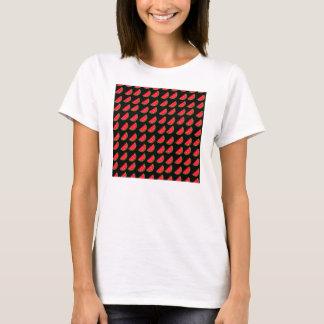 Bright Summer Picnic Watermelons on black backgrou T-Shirt