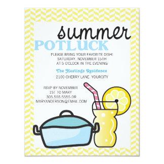 Bright Summer Potluck 4.25x5.5 Paper Invitation Card