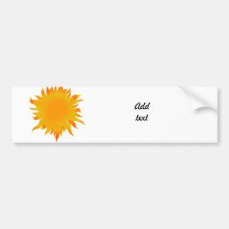 Bright Summer Sun  Sunshine Car Bumper Sticker