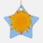 Bright Summer Sun  Sunshine Christmas Ornament