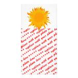 Bright Summer Sun  Sunshine Customized Photo Card