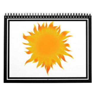 Bright Summer Sun  Sunshine Calendar