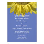 Bright summer sunflower flower Christian wedding Personalized Announcement