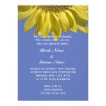Bright summer sunflower flower Christian wedding Personalized Announcement