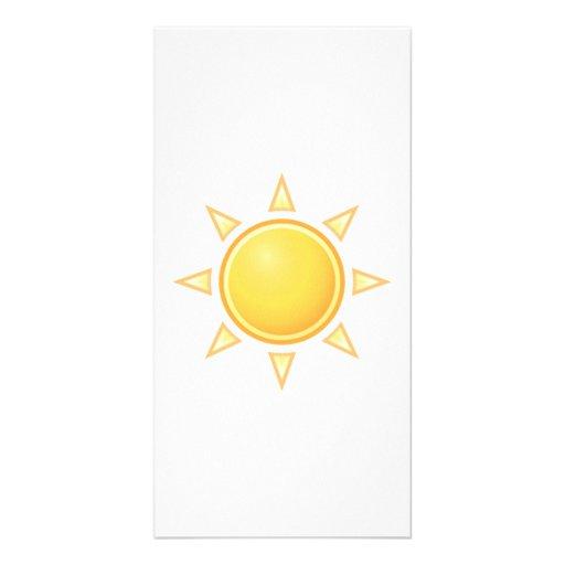 Bright Sun Photo Card