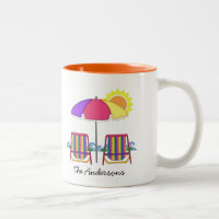 Bright Sunbrella Beach Chair Mug