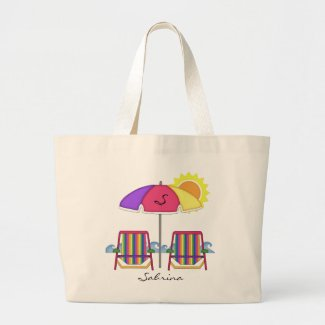 Bright Sunbrella Beach Tote