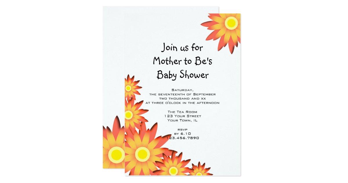 bright sunflower baby shower invitation zazzle