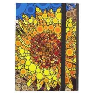 Bright Sunflower Circle Mosaic Digital Art Print Cover For iPad Air