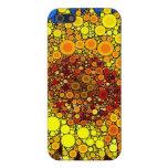 Bright Sunflower Circle Mosaic Digital Art Print iPhone 5 Cases