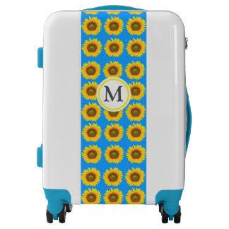 Bright Sunflower Pattern Luggage