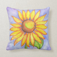 Bright Sunflower  Pillow
