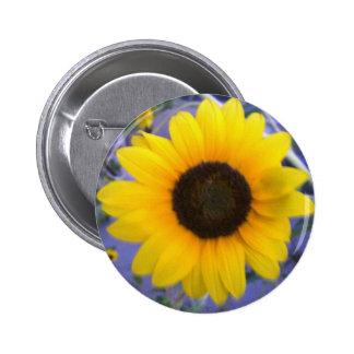 Bright Sunflower Pinback Buttons