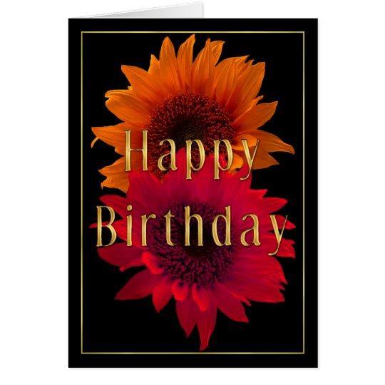 Bright Sunflowers - Happy Birthday Card