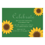 Bright Sunflowers -summer party invitations