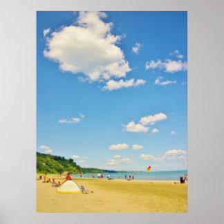 Bright Sunny Beach Day Poster