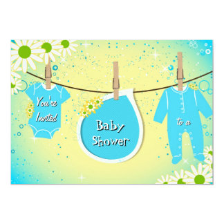 Bright Sunny Daisy Flower Baby Shower Invitation