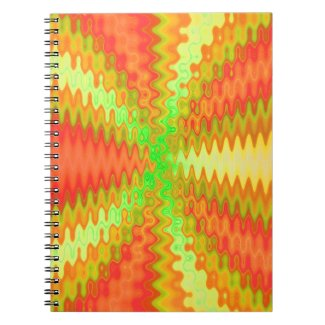 bright sunny orange yellow abstract notebook