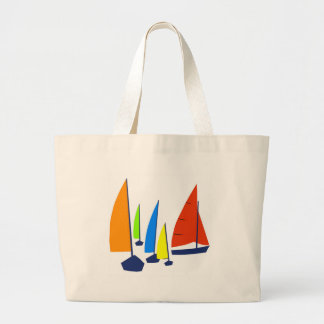 Bright Sunny Sailboats - Tote Bag