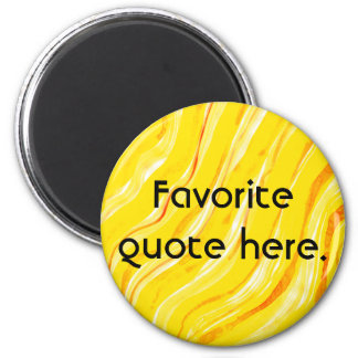 Bright Sunny Yellow Abstract Art Background Magnet