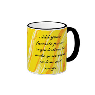 Bright Sunny Yellow Abstract Art Background Coffee Mugs