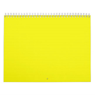 Bright Sunny Yellow Backgrounds on a Calendar