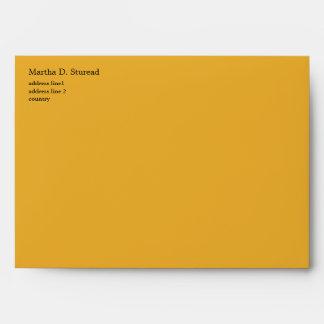 bright sunny yellow chevron zigzag stripes. envelope