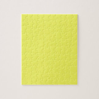 Bright Sunny Yellow Color Only Custom Products Jigsaw Puzzles