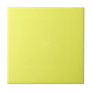 Bright Sunny Yellow Color Only Custom Products Ceramic Tiles