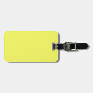 Bright Sunny Yellow Color Only Custom Products Travel Bag Tag