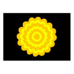 Bright sunny yellow flower. On Black. Business Card Templates