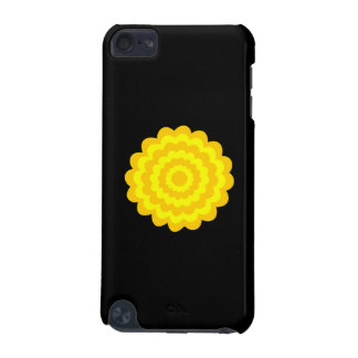 Bright sunny yellow flower On Black iPod Touch 5G Case