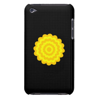 Bright sunny yellow flower On Black iPod Touch Cover