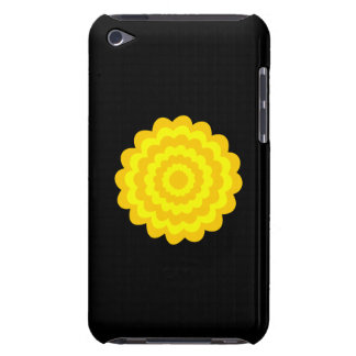 Bright sunny yellow flower On Black iPod Touch Case