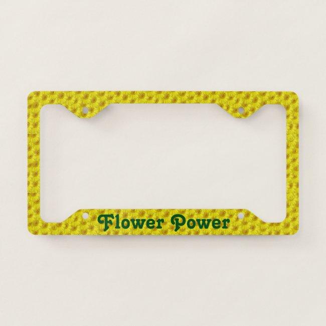 Bright Sunny Yellow Flowers Pattern Flower Power