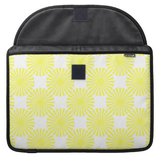 Bright Sunny Yellow Sun Rays Abstract Sleeve For MacBooks