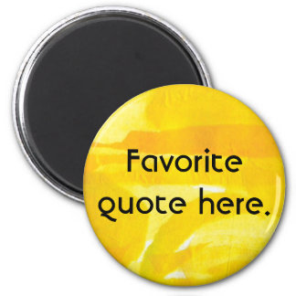 Bright Sunny Yellow Torn Paper Collage Refrigerator Magnets
