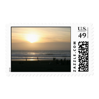 bright sunset postage stamps