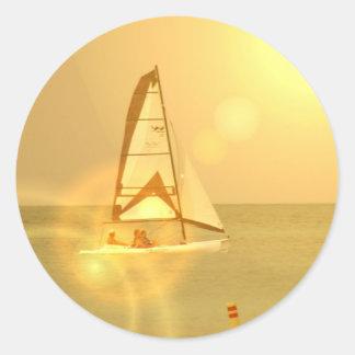 Bright Sunset Sail Sticker
