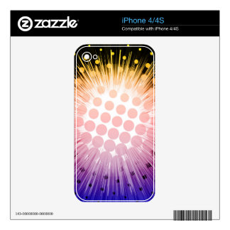Bright Super Hero Pop Art iPhone 4S Skins