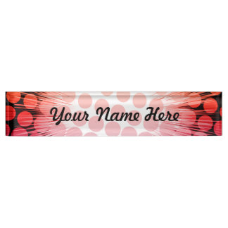 Bright Super Hero Pop Art Name Plate