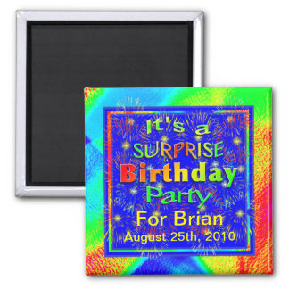 Bright Surprise Birthday Party Magnets