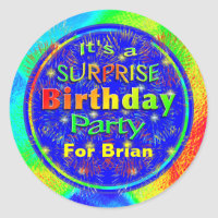 Bright Surprise Birthday Party Stickers