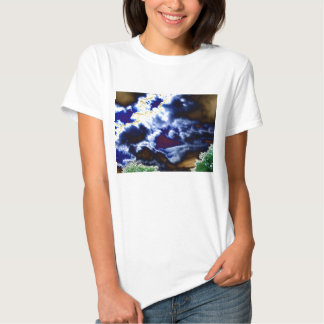 Bright Surreal Cloud Mixture and Glowing Trees by Shirts