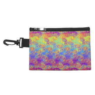 Bright Swirl Fractal Patterns Rainbow Psychedelic Accessory Bag