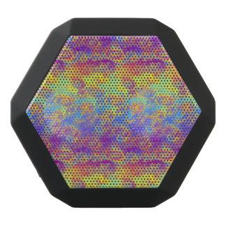 Bright Swirl Fractal Patterns Rainbow Psychedelic Black Bluetooth Speaker
