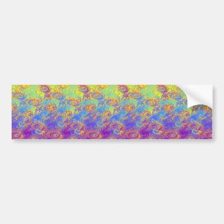 Bright Swirl Fractal Patterns Rainbow Psychedelic Bumper Sticker