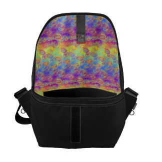 Bright Swirl Fractal Patterns Rainbow Psychedelic Courier Bag