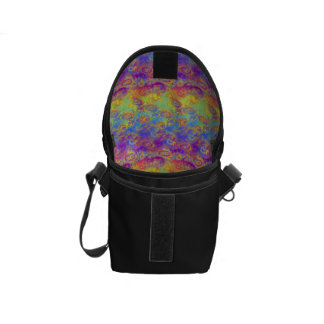 Bright Swirl Fractal Patterns Rainbow Psychedelic Courier Bags