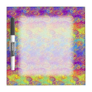 Bright Swirl Fractal Patterns Rainbow Psychedelic Dry Erase Board
